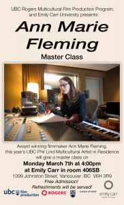 Anne Marie Fleming Master Class