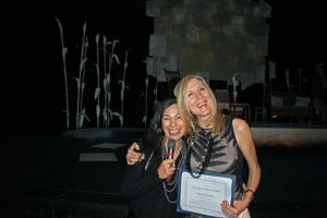 Carmen Aguirre and Diane Brown. Photo credit: Wendy Tsui, Gateway Theatre